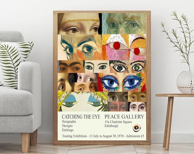 Museum Art Exhibition Print 1970 Vintage Exhibition Poster