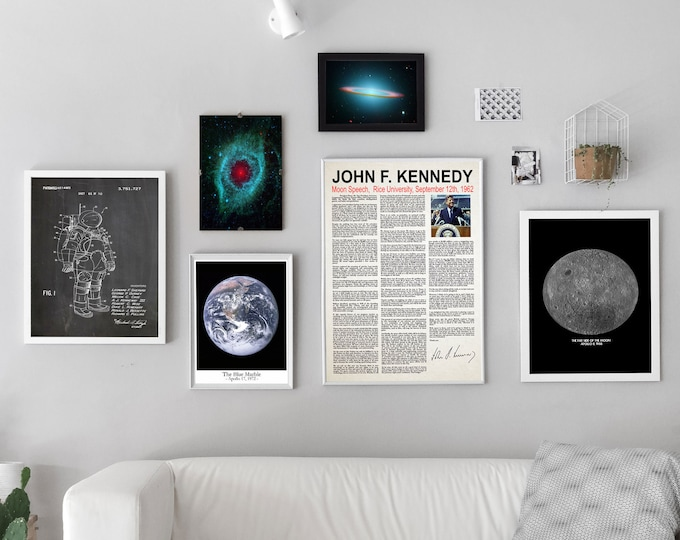 Space Poster Set of Ready to Frame Gallery Space Prints