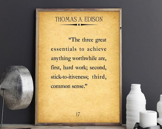 Hard Work Quote Thomas Edison Quote Business Quote