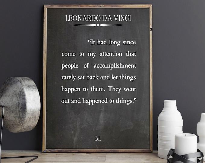 Work Hard Quote by Leonardo Da Vinci Quote Ambition Quote