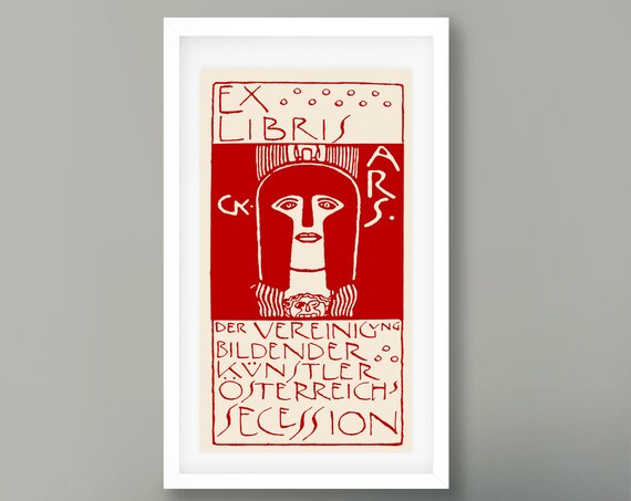 Gustav Klimt Print Red Secession Print Klimt Art