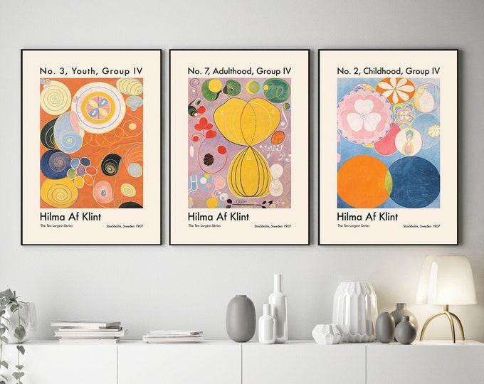 Hilma Af Klint Prints Hilma Set of 3 Abstract Art Prints