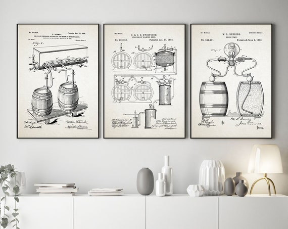 Craft Beer Brewing Posters Craft Beer Gift For Him