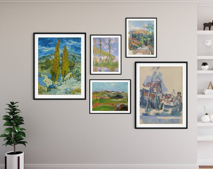 Gallery Print Set of Impressionist Paintings Set of 5 Gallery Wall Prints