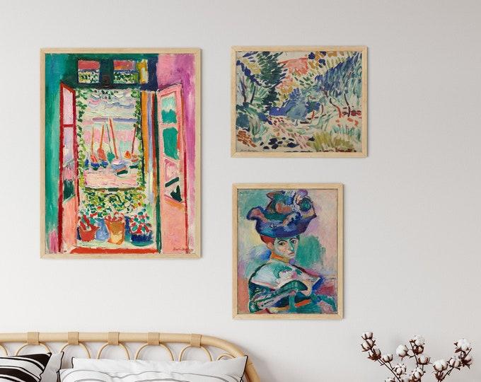 Matisse Gallery Prints Set of 3 Henri Matisse Artworks 3 Piece Wall Prints