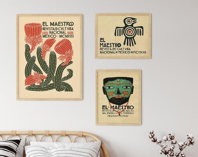 El Maestro Mexican Art Gallery of 3 Prints