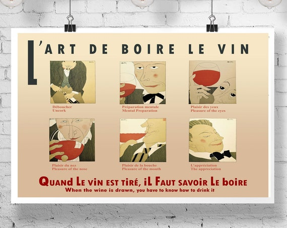 Wine Posters Wine Decor Restaurant Poster French Wine Prints