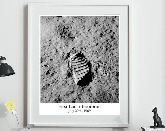 Footprint on the Moon 1969 Apollo 11 Walking on the Moon Photo