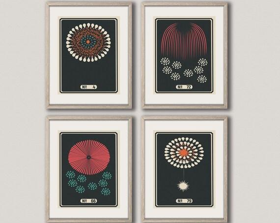 Modern Wall Art Set of 4 Modern Graphic Design Prints