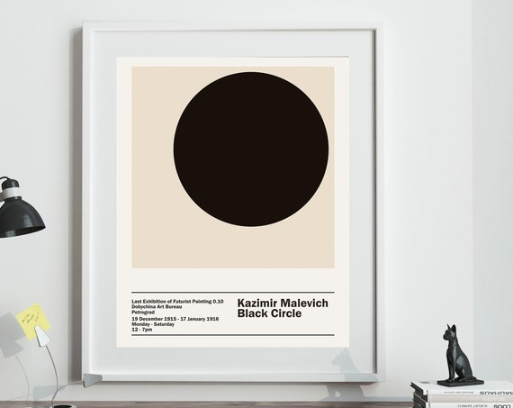 Malevich Exhibition - Black Circle Poster Russian Art Exhibit 1916