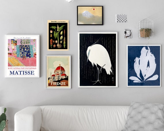 Gallery Prints Set of 6 Ready to Frame Gallery Wall Prints WB-G2