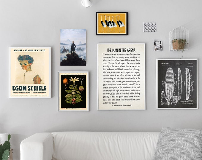 Gallery Wall Prints Set of 6 Prints - Modern Gallery Print Bundle WB-G1
