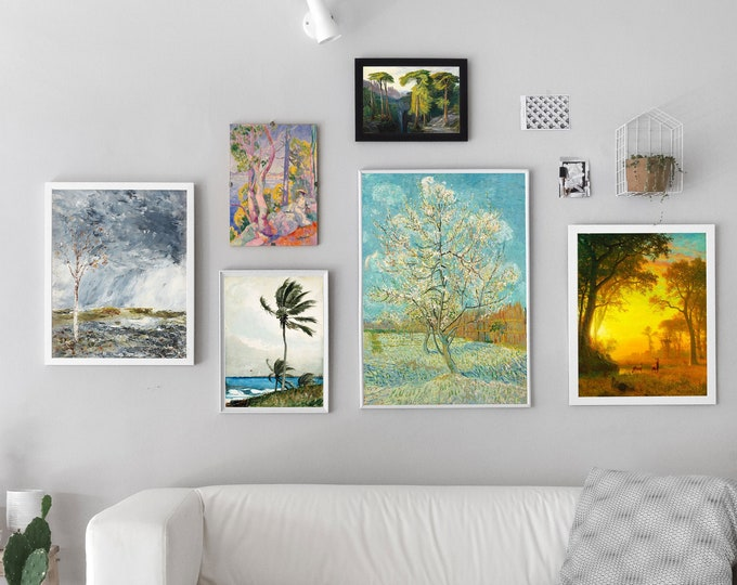 Tree Gallery Print Set of 6 Gallery Wall Posters of Nature