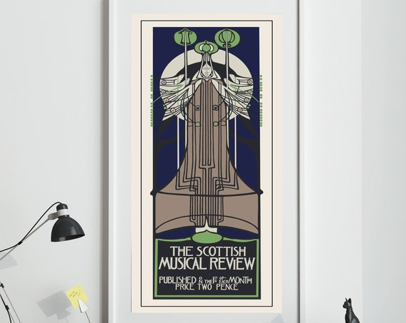 Charles Rennie Mackintosh Print Scottish Musical Review Advertisement