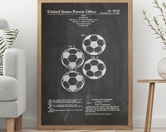 Soccer Poster Football Art Soccer ball Decor Soccer Ball Patent Print Football Wall Art Football Poster Football Patent Poster Patent WB062