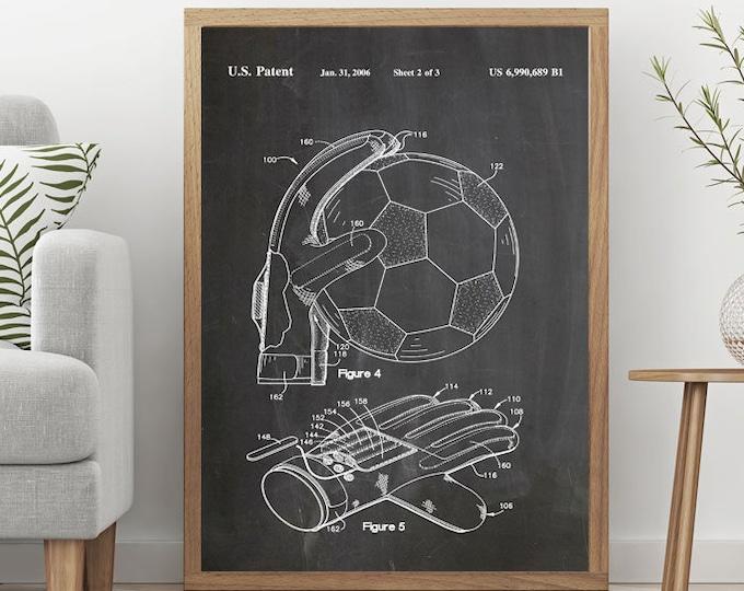 Goalkeeper Gift Goalkeeper Poster Soccer Art Soccer Poster Soccer Print Soccer Decor Soccer Gift for Goalie Soccer Wall Art Sport Art WB061