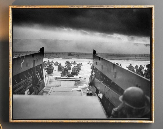 WWII Poster D-Day Poster D-Day Landings Into the Jaws of Death Photo