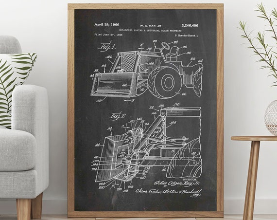 Digger Invention Poster Machine Poster Machine Prints Invention Wall Art Digger Posters Construction Wall Art Construction Decor WB369