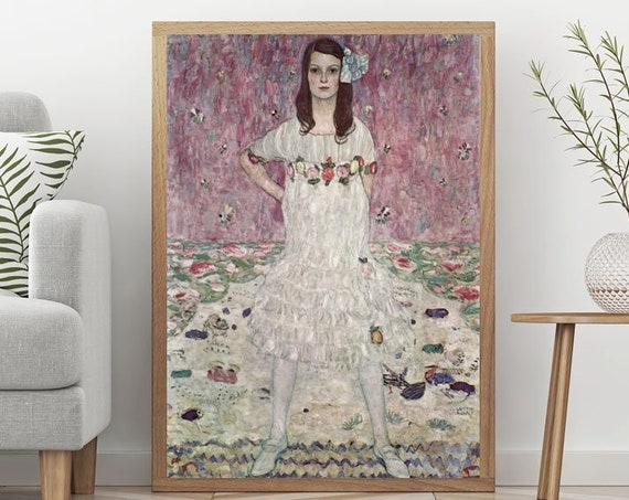 Fearless Girl Vintage Painting Gustav Klimt Painting Mäda Primavesi Poster Klimt Poster Feminist Painting Fearless Girl Print Feminist Art