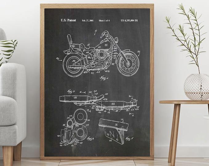 Motorbike Poster Motorbike Patent Print Motorcycle Art Motorcycle Posters Biker Print Biker Wall Art Motorcycle Decor Harley Davidson WB305