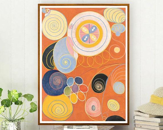 Burnt Orange Abstract Art Orange Painting by Hilma of Klint