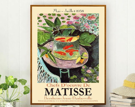 Matisse Museum Print Matisse Poster Matisse Print French Exhibition Poster