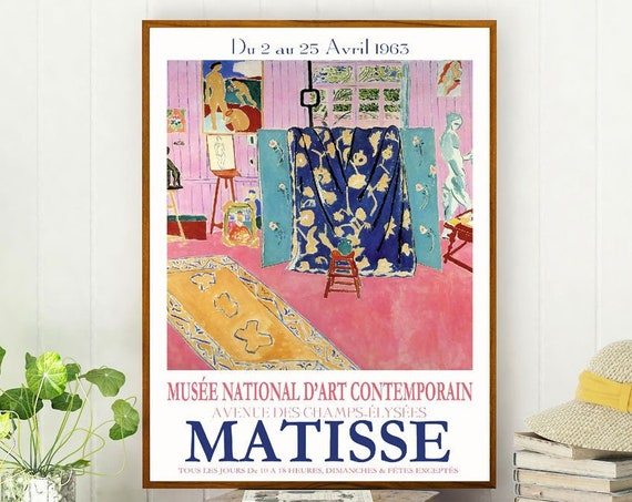 Matisse Exhibition Poster 1963 Museum Poster Matisse Poster Matisse Print