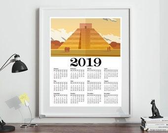 Giant Wall Calendar Etsy