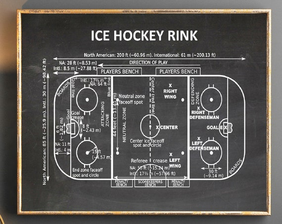 Ice Hockey Gift Ice Hockey Rink Poster Ice Hockey Poster Gift for Ice Hockey Player Ice Hockey Decor Ice Hockey Print SWB2