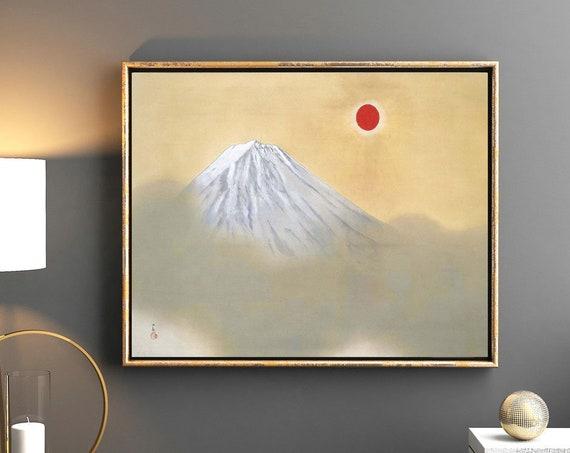 Mt Fuji Painting by Yokoyama Taikan Japanese Sun