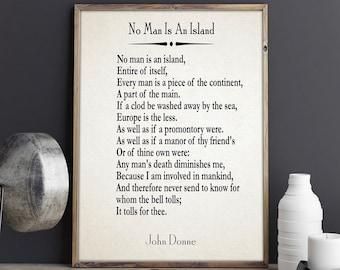 donne no man is an island