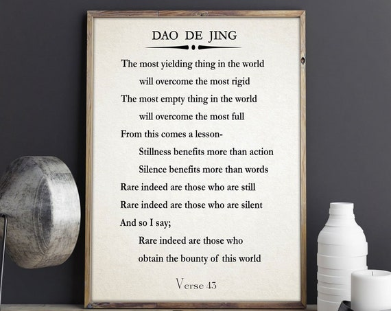 Tao Te Ching by Lao Tzu Quote Meditation Quote Power Quote Large Book Poster Large Book Page Chinese Wisdom Quote Chinese Quote