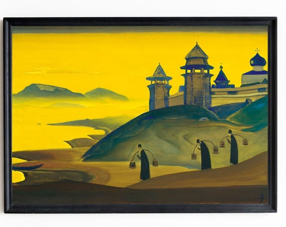 Nicholas Roerich And We Are Trying Painting Spiritual Print Spiritual Decor