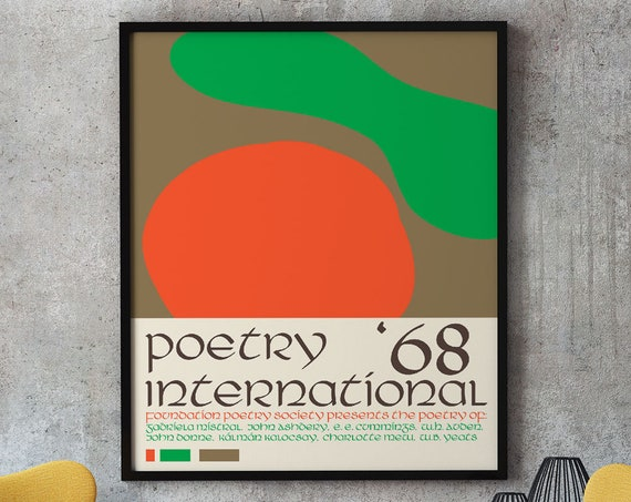 Poetry Exhibition Poster Poetry Festival Decor 1968