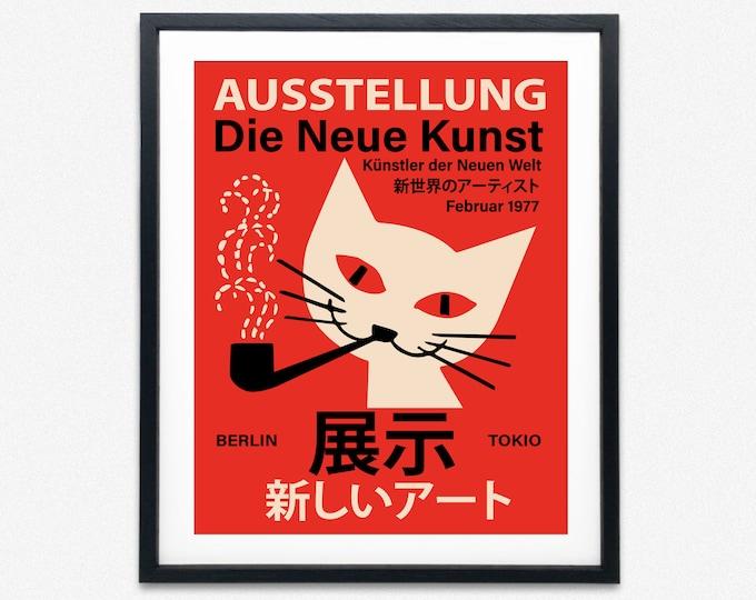 German Japanese Exhibition Poster The New Art Berlin Tokyo