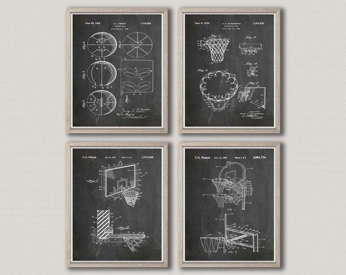Basketball Poster Set of 4 Basketball Prints Basketball Wall Art NBA Poster NBA Print NBA Basketball Mom Basketball Coach WB297-298-300-301