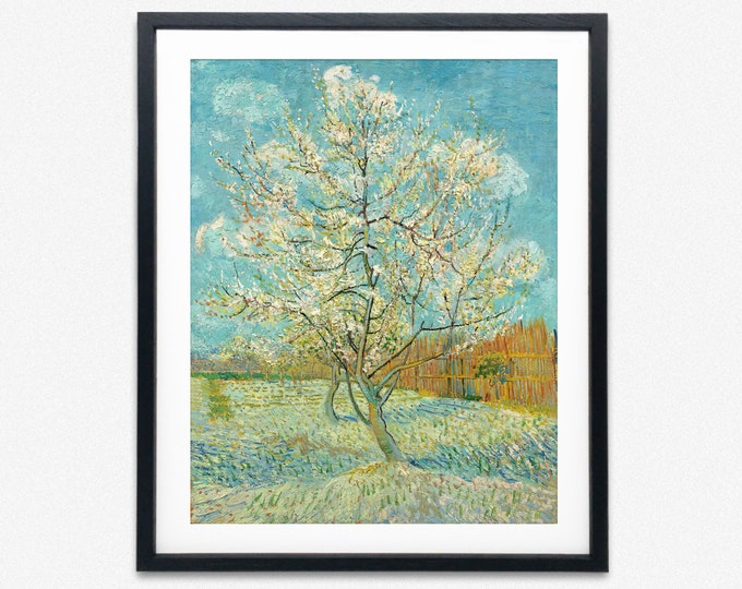 Vincent Van Gogh The Pink Peach Tree Painting