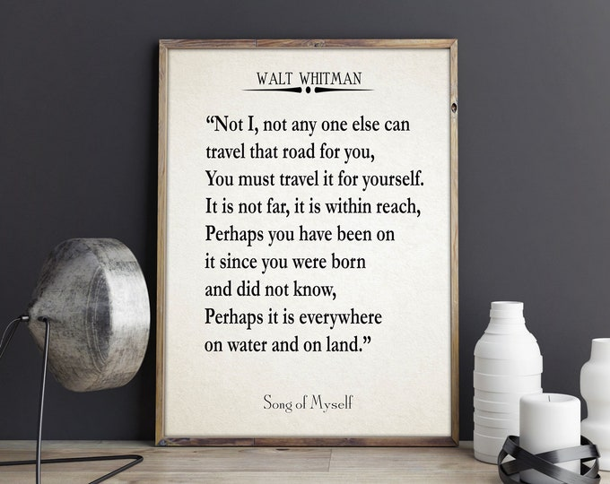 Song of Myself by Walt Whitman Poetry Print