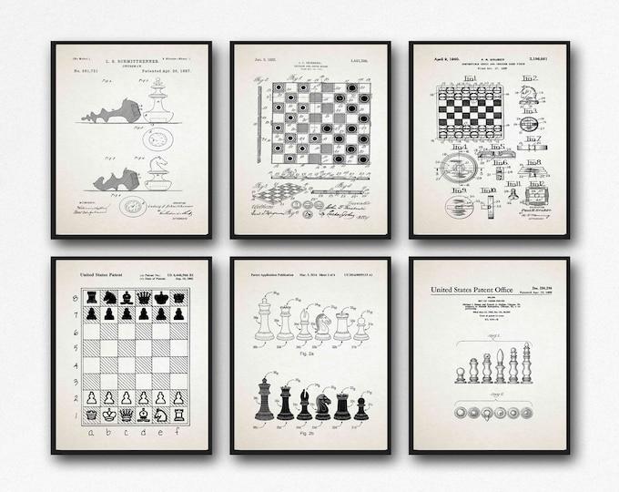Chess Playing Decor Chess Gift Set Chess Decor Set of 6 WB497-502