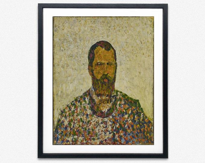 Cuno Amiet - Self-portrait in White (1907)