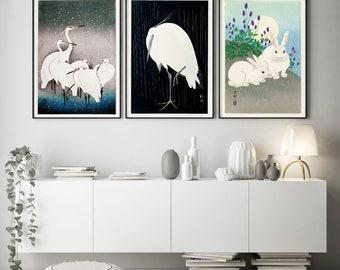 Set Of 3 Japanese Woodblock Prints Woodblock Posters Woodblock Art  Woodblock Decor Japanese Kitchen Art Kitchen Decor Kitchen Prints