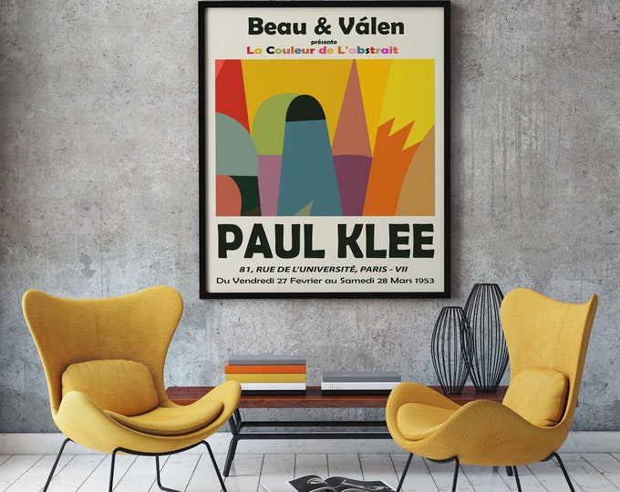 French Exhibition Poster for Paul Klee Art Exhibition 1953