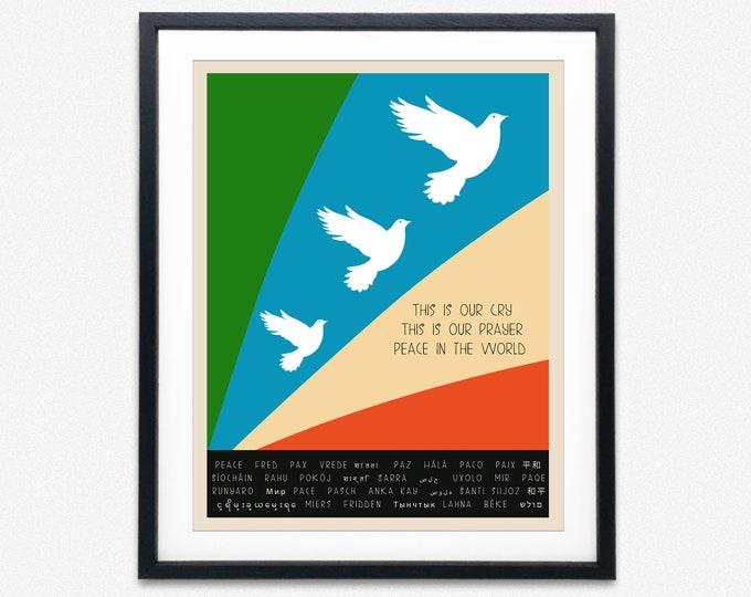 Peace Poster Peace Wall Art Peace Gift Peace Print 1965