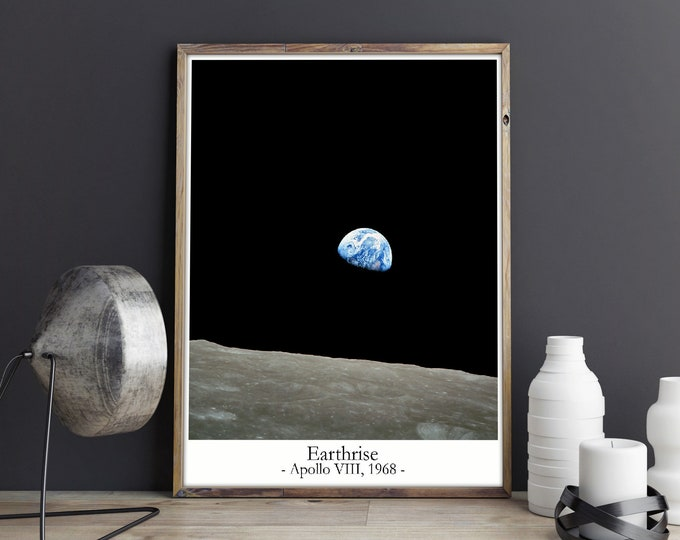 Earthrise Photo Earthrise Print Space Print Space Decor