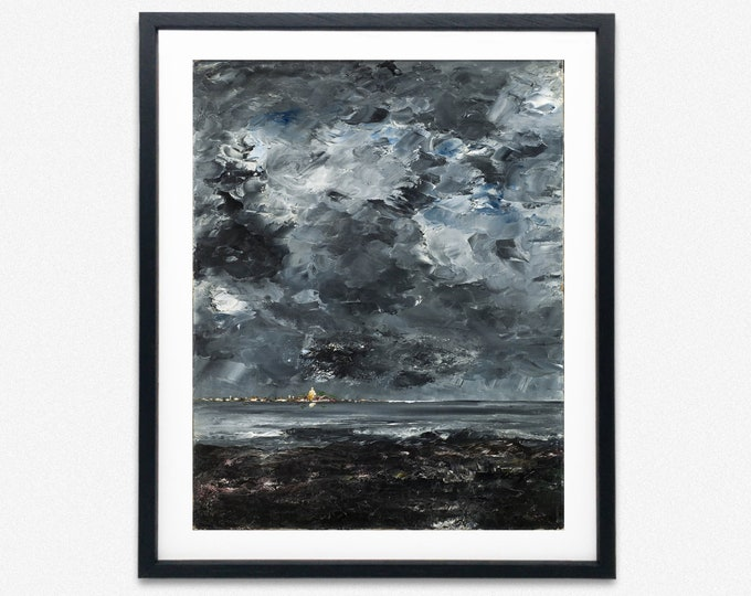 August Strindberg Painting The Town by August Strindberg Art Modern Wall Art Modern Printing Modern Poster Art Modern Painting Modern Artist