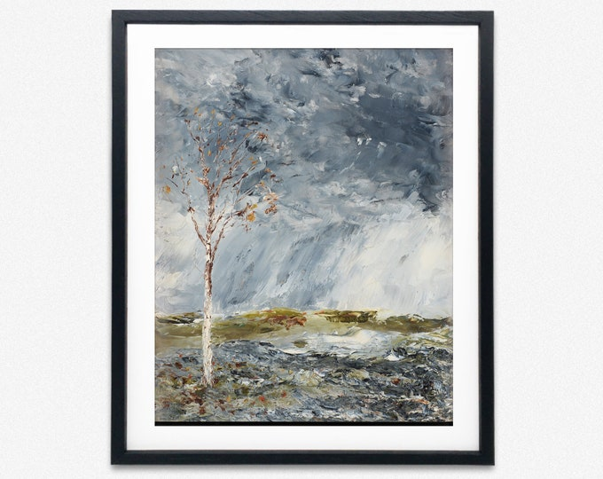 Modern Oil Painting Poster by August Strindberg Modern Painting Tree Painting Tree Decor tree Art Tree Decor tree Poster Green Poster Popart