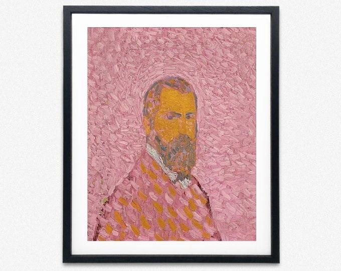Cuno Amiet - Self Portrait in Rose