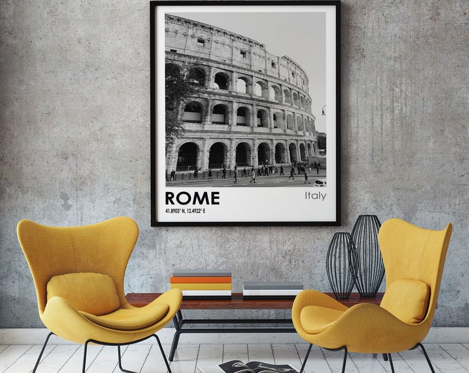 Rome Travel Poster Rome Photo Print Rome Travel Art