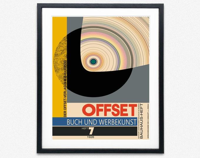 Bauhaus Poster by Joost Schmidt Bauhaus Magazine Cover Art