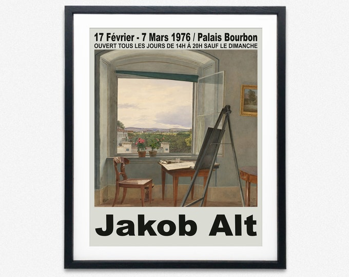 French Museum exhibition Poster Jakob Art Poster 1976
